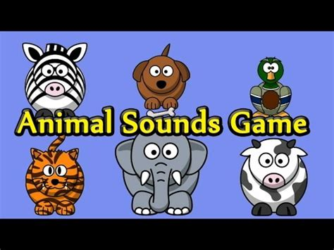 interactive animal sounds game  kids learning video youtube