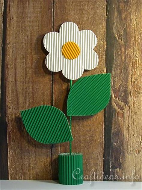 Corrugated Paper Craft - mother s day craft for corrugated cardboard flower