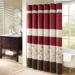 Faux Silk Shower Curtain Burgundy Shower Curtains Home Design Ideas And Pictures
