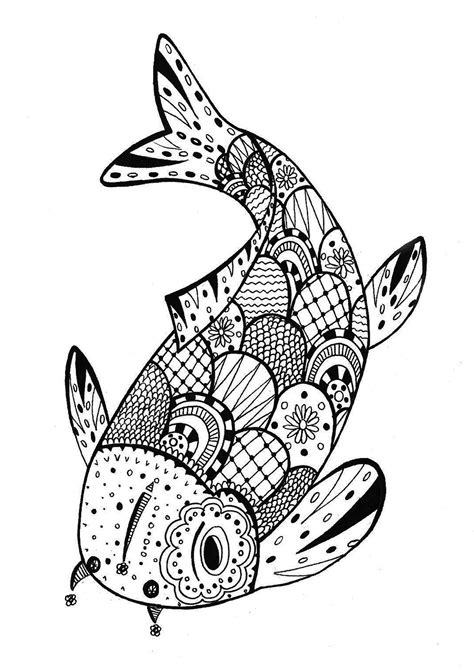 fish mandala coloring page a beautiful fish for a coloring page very zentangle