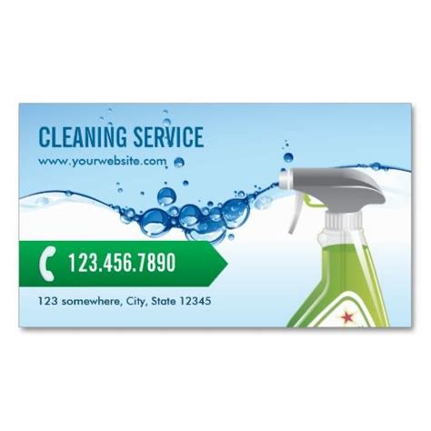 Business Card Template Free Word For Cleaners by Cleaning Service Professional Blue Water Bubbles Business
