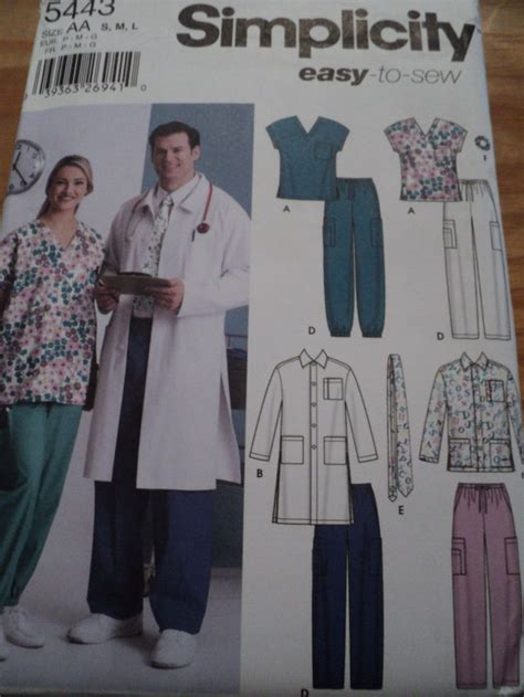 pattern for childrens lab coat sewing pattern simplicity 5443 medical scrubs lab coat top