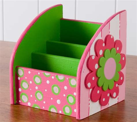 desk organizer for women a bright color palette combined with a surface with a