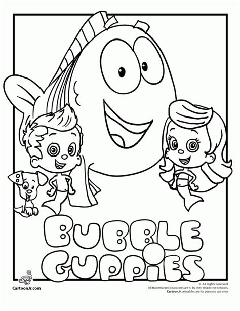 Get This Printable Bubble Guppies Coloring Pages 237383 Free Printable Pictures