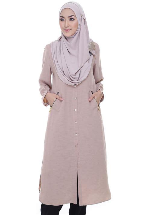 tunic ameera ii pink beige muslimahclothing