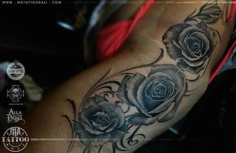 harbour tattoo bali rose tattoos done in bali line tattoos red roses