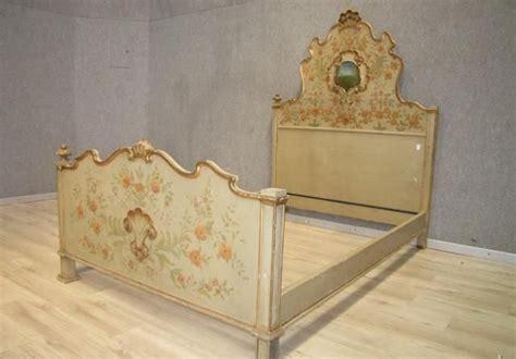 Antiques Decorative Antique Italian Venetian Painted Decorative Double Bed
