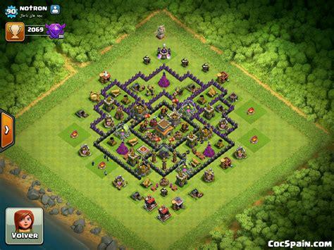 clash of clans ayuntamiento de aldea 8 dise 241 os de aldeas de ayuntamiento nivel 8 cocspain com
