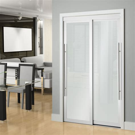 Sliding Closet Doors Vancouver Veranda 72 Inch White Framed 6 Panel Sliding Door The Home Depot Canada