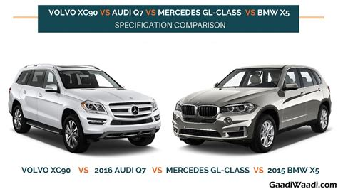volvo versus audi volvo xc90 vs audi q7 vs mercedes gl class vs bmw x5