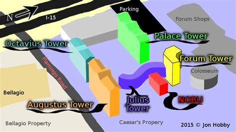 caesars palace map caesars palace towers map my