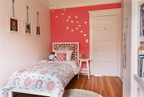 coral pink bedroom morocco headboard transitional s room em design