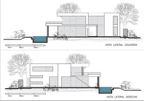 plan elevation section modern house modern house plan section elevation