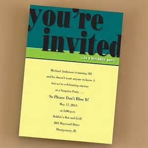 his birthday invitation printed with your wording his birthday invitation item number