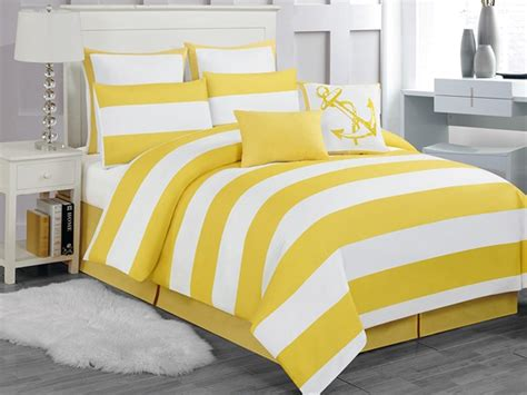 Yellow Comforter by Delia Stripe 8pc Comforter Set Yellow