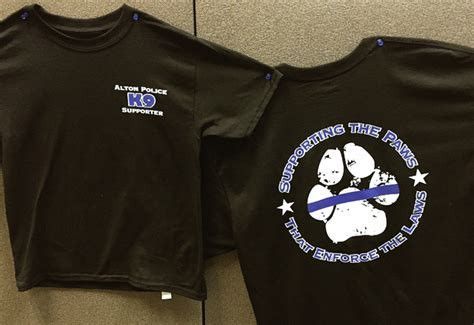 T shirts to benefit APD K9 program   Alton Telegraph