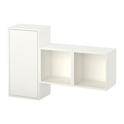 kallax wandmontage eket wall mounted cabinet combination white ikea