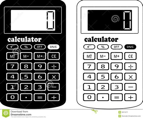 calculator x8 download the financial calculator stock vector illustration of