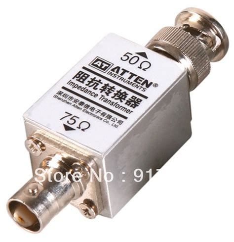 transformer impedance to ohms rf high frequency 1000m 1ghz impedance transformer converter 50 75 ohm 250mw bnc connector