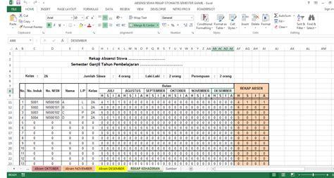 format rekapitulasi daftar hadir guru contoh format absensi guru aplikasi absensi siswa guru