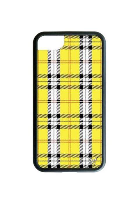 wildflower cases yellow plaid iphone  case   york  lets bag  shoptiques
