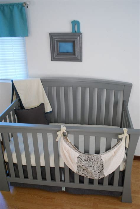 Grey And Aqua Crib Bedding 1000 Images About Aqua Blue In The Nursery On Dust Ruffle Grey Fabric And Pine