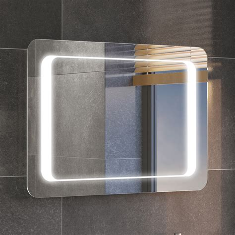 led bathroom mirrors uk 700x500mm illuminated led bathroom mirror ip44