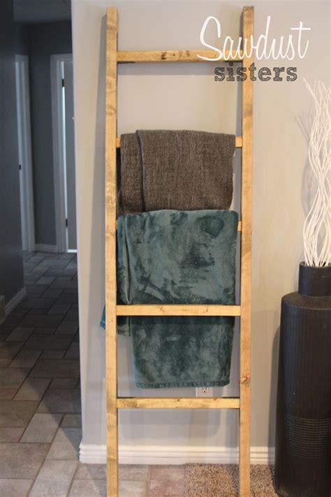 diy blanket ladder sawdust sisters