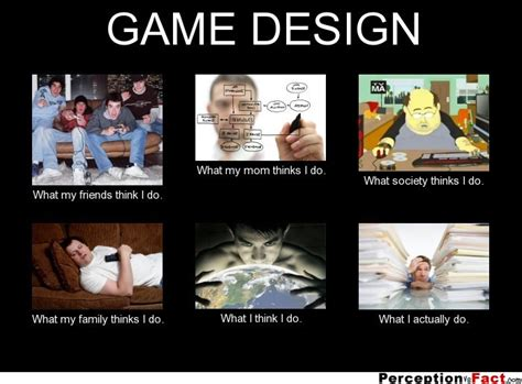 Designer Meme - game design what people think i do what i really do