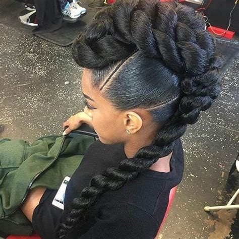 Black Mohawk Hairstyles by Mohawk Braid Hairstyles Black Braided Mohawk Hairstyles