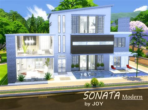 the sims 4 40x30 modern house floor plans sonata modern house by at tsr 187 sims 4 updates