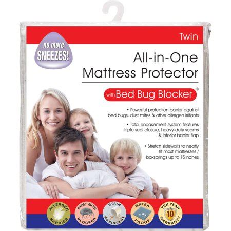 luxury cotton rich bed bug blocker zippered mattress protector walmartcom