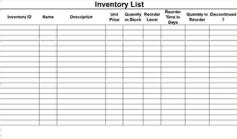 6 Inventory Checklist Template Procedure Template Sle Inventory Check Out Sheet Template