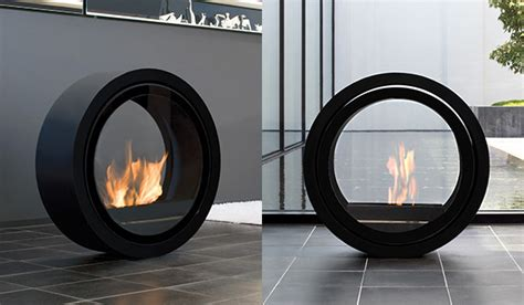 ultra modern fireplaces rolling fireplace by conmoto