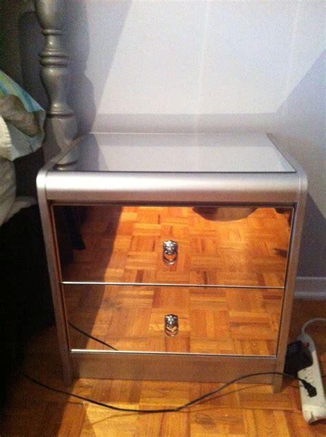 Diy Mirrored Desk My Diy Mirrored Bedside Table Diy