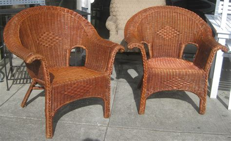 Uhuru Furniture Collectibles Sold Wicker Patio Chairs Wicker Patio Chair