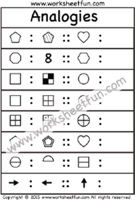 analogy pattern recognition questions thinking skills free printable worksheets worksheetfun
