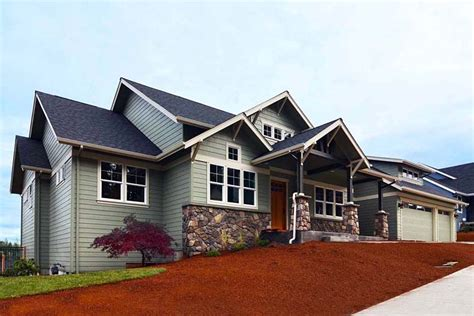 country craftsman traditional house plan 41201