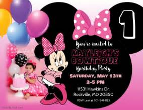 minnie mouse birthday template minnie mouse birthday invitation template postermywall