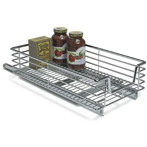 sliding cabinet organizers kitchen 12 inch wide sliding cabinet organizer in pull out baskets