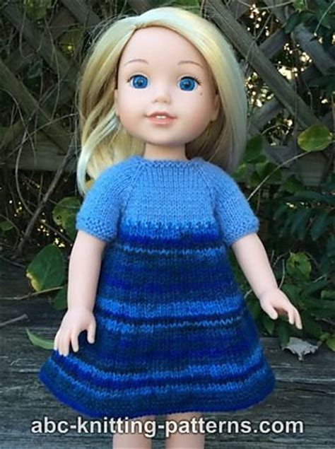 free knitting patterns for 14 inch doll clothes knitting patterns galore wellie wishers doll dress and