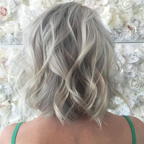 salt and pepper hair with highlights pictures of salt and pepper hair with platinum highlights