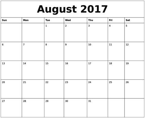Calendar Printable 2017 Uk August 2017 Calendar Uk
