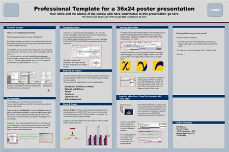 Template For A 72x42 Poster Presentation Ppt Download 36x24 Poster Template