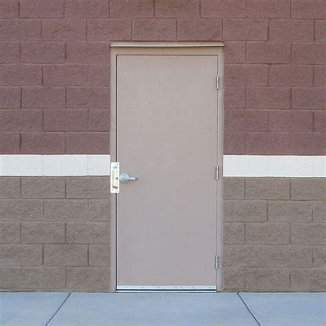 Exterior Commercial Metal Doors with Flush Commercial Hollow Metal Doors Industrial Steel Doors