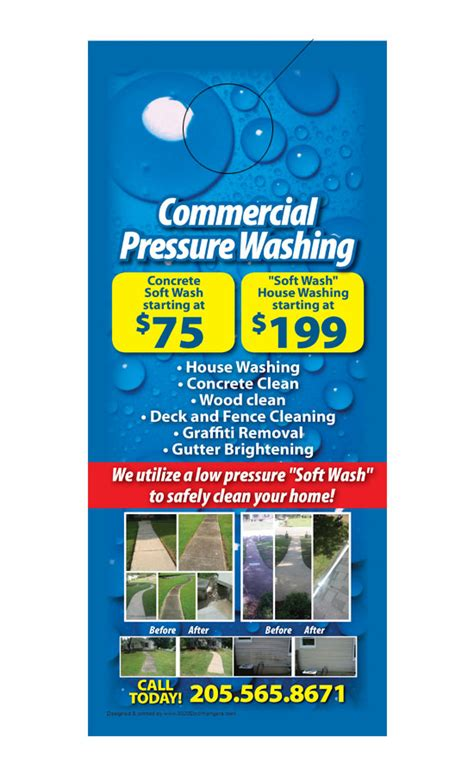 Pressure Washing Flyers Exle Arts Arts Power Washing Flyer Templates Free