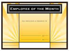 employee of month template free employee of the month certificate template free