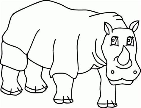 mewarnai gambar badak bercula 1 imut lohh contoh anak paud
