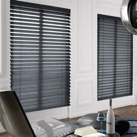 Contemporary Blinds American Blinds Signature Wood Blinds In Black