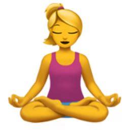 emoji yoga woman in lotus position emoji u 1f9d8 u 200d u 2640 u
